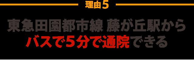 東急田園都市線藤が丘駅からバスで5分で通院できる